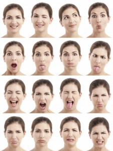 Multiple faces expressions